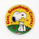 Snoopy hugging Woodstock 'Gee, Somebody Cares' Mini Mirror