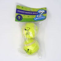 Snoopy sitting dog tennis balls