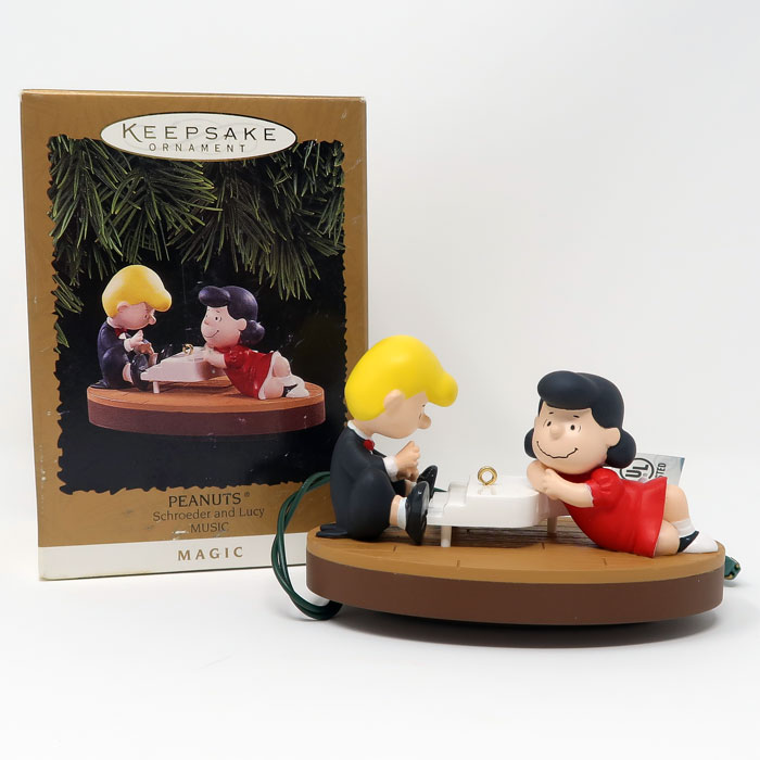 Lucy And Schroeder At Piano Ornament