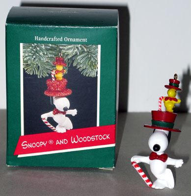 Snoopy In Top Hat With Woodstock Ornament Collectpeanuts Com