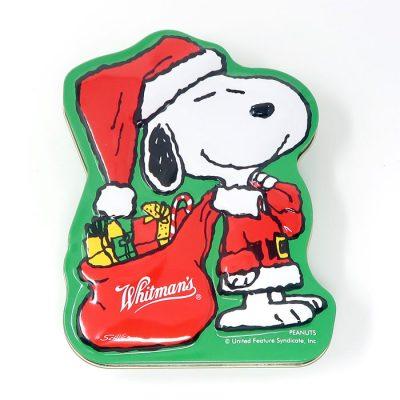 Snoopy as Santa Christmas Tin