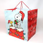 Snoopy & Woodstock on Doghouse Christmas Gift Bag
