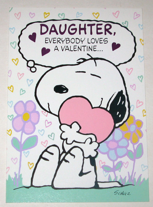 Snoopy daughter valentine greeting card collectpeanuts snoopy daughter valentine greeting card m4hsunfo