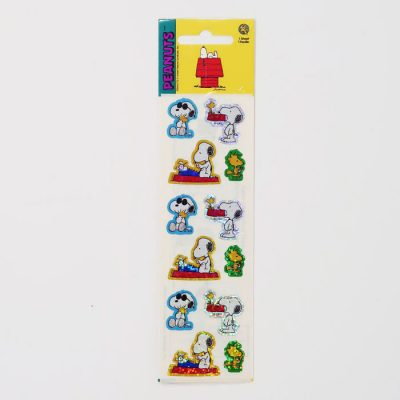 Snoopy & Woodstock multi-poses prismatic Stickers