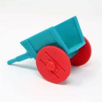 Blue & Red Farm Cart Figure