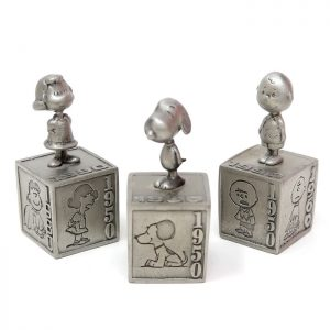 Charlie Brown Anniversary - Peanuts through the decades Pewter Figurines
