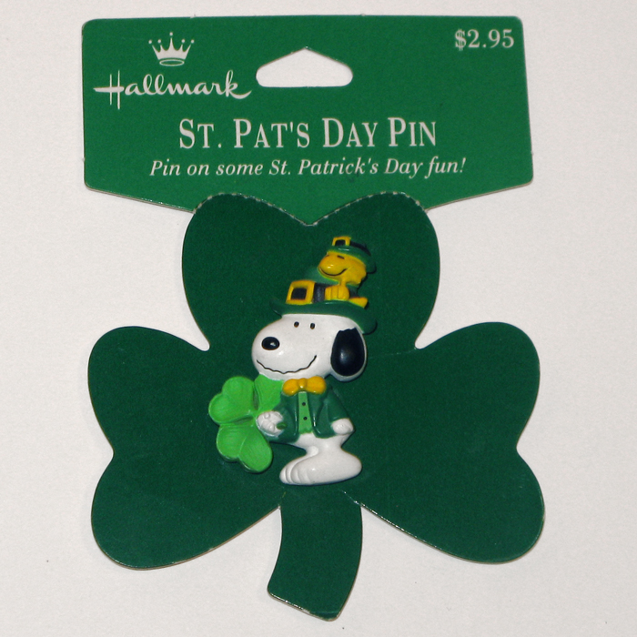 snoopy woodstock st patrick s day pin collectpeanuts com