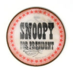 Snoopy for President Flasher Button