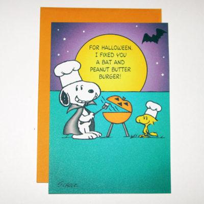 Snoopy & Woodstock Halloween Card