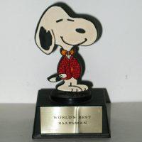 Snoopy Salesman Trophy