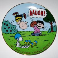 You Blockhead, Charlie Brown Peanuts Football Plate