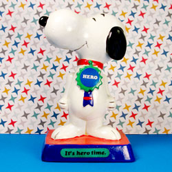 It's hero time, Snoopy!