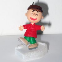 Charlie Brown on Ice Miniature Ornament