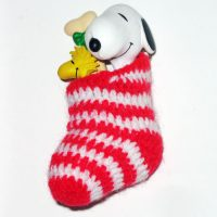 Snoopy and Woodstock in Stocking Ornament