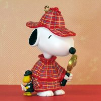 Snoopy as Sherlock Holmes with Woodstock Ornament
