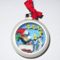 Santa Snoopy on Rooftops Panorama Ornament