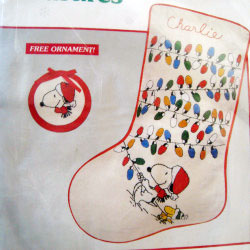 Snoopy & Woodstock Crewel Christmas Stocking Kit