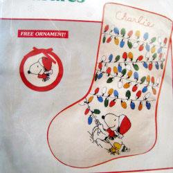 Snoopy & Woodstock Crewel Christmas Stocking Kit
