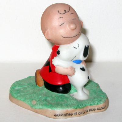 Charlie Brown & Snoopy Hugging Figurine