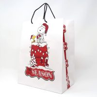 Snoopy and Woodstock on Doghouse Christmas Gift Bag