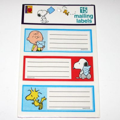 Peanuts Mailing Labels
