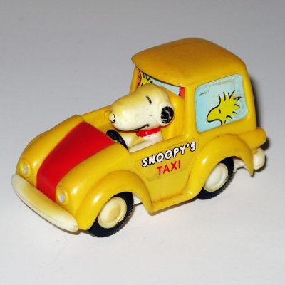 Snoopy Taxi Friction Car