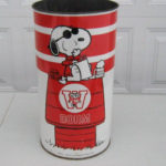 Snoopy College Sports Trash Can