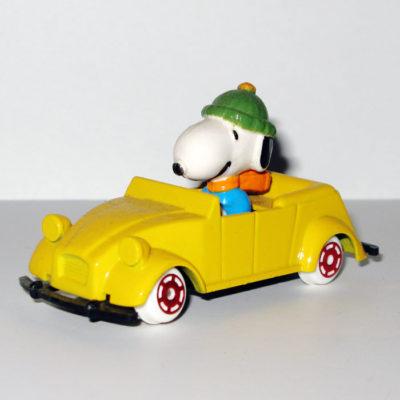 Snoopy in Yellow Citroen Type Car