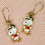 Snoopy Rollerskating Earrings