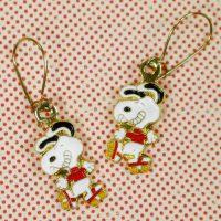 Snoopy Rollerskating Earrings