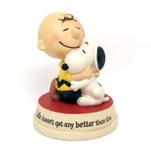 Snoopy & Charlie Brown Hugging Figurine