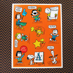 Say it with Peanuts Stickers