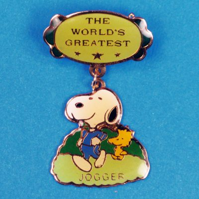 Snoopy World's Greatest Jogger Pin