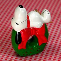 Snoopy on Wreath Ornament