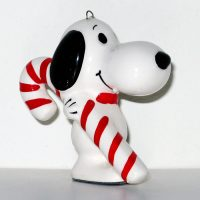 Snoopy carrying candy cane Ornament