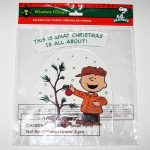 Charlie Brown with Christmas Tree Gel Cling