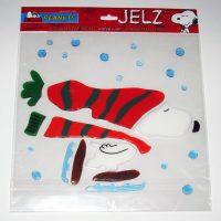 Snoopy Skating Jelz Window Cling