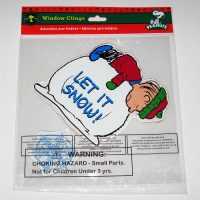Linus on Snowball Christmas Gel Cling