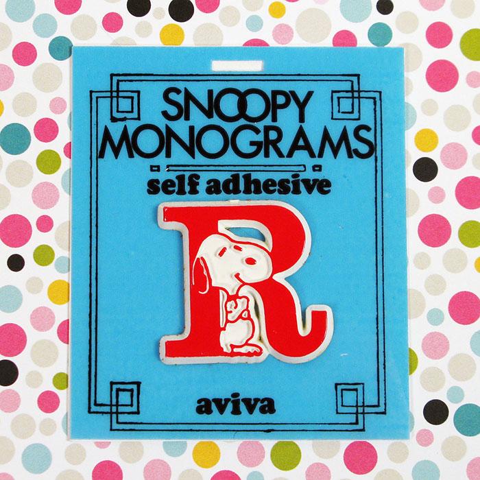 Snoopy Monogram - Letter R