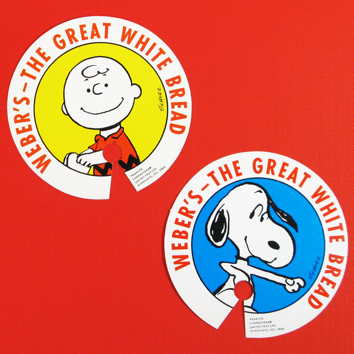 Snoopy and Charlie Brown Bread Ties