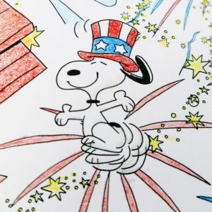 Snoopy & Friends Fourth of July Fireworks - Peanuts Adult Coloring Book
