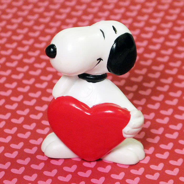 Snoopy holding heart PVC Figurine
