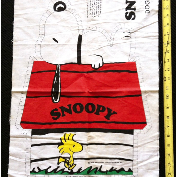 Snoopy Doghouse Pillow Fabric Panel