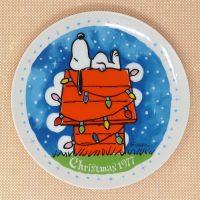 Snoopy 1977 Christmas Plate