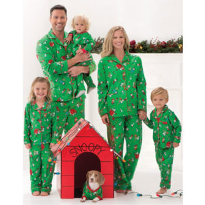 Peanuts Christmas Pajamas from Pajamagrams