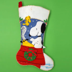 Snoopy Letter to Santa Christmas Stocking
