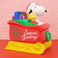 Snoopy & Woodstock in Sleigh Bank Candy Container