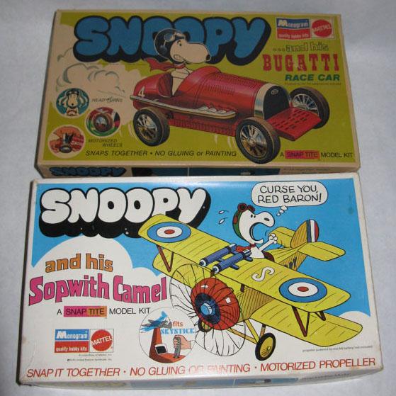 Snoopy Mattel Model Kit Boxes