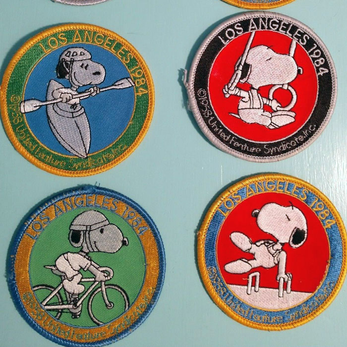 Snoopy 1984 Summer Olympics Patches
