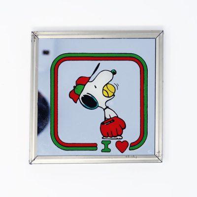 Baseball Snoopy Mirror